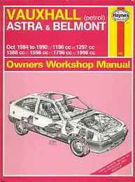 Vauxhall Astra and Belmont 1984-90 (Owners Workshop Manual)/ヴォクスホール