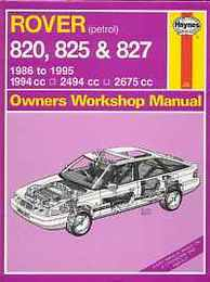 Rover 820, 825 and 827 (Owners Workshop Manual)/ローバー