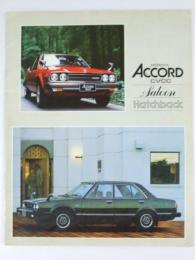 自動車カタログ HONDA Accord CVCC Saloon Hatchback