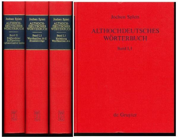 古高ドイツ語辞典 1993年 2巻・3冊 Althochdeutsches Worterbuch ...