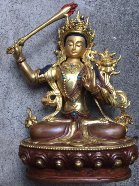 チベット仏像】文殊菩薩坐像 / 古本、中古本、古書籍の通販は「日本の ...