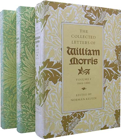 The Collected Letters of William Morris 3冊セット(Volume I:1848-1880/ Volume II 1881-1884、1885-1888)