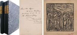 Wood-engraved proof for Cupid and Psyche ('Psyche's Entry Among the Gods'), with additional letter by Burne-Jones and the first illustrated edition of 'The Story of Cupid and Psyche'
