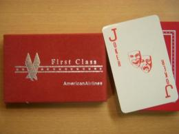 American Airlines First Class Playing cards