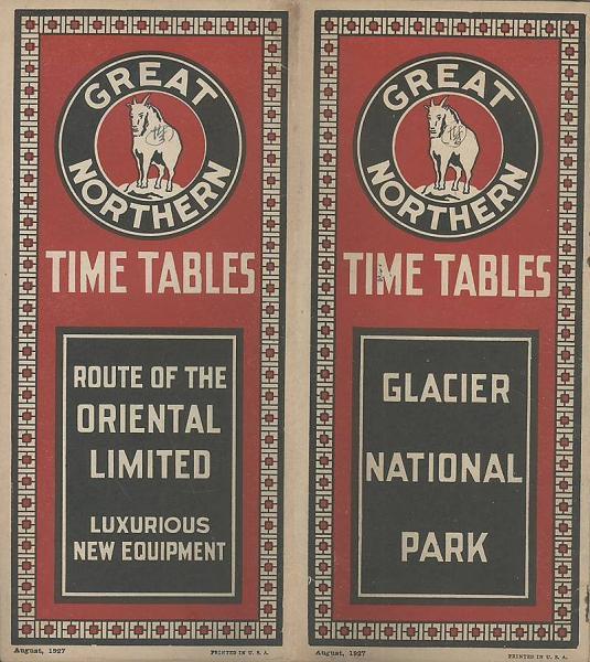 英 時刻表 great northern time tables oriental limited 有 みな
