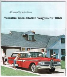 All aboard for active living Versatile Edsel Station Wagons foe 1959  エドセルステーションワゴン・カタログ