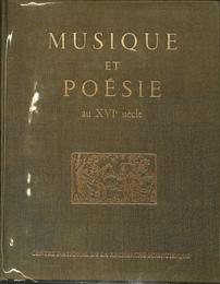 16世紀の音楽と詩(仏) MUSIQUE...