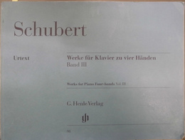 シューベルト連弾作品集第3巻原典版 楽譜 Schubert Werke fur Klavier zu vier Handen Band3  Works for Piano Four-hands Vol.3