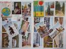 世界探検家菅野力夫第三回世界一周旅行の実況1・2 各カラー10枚組袋付 戦前