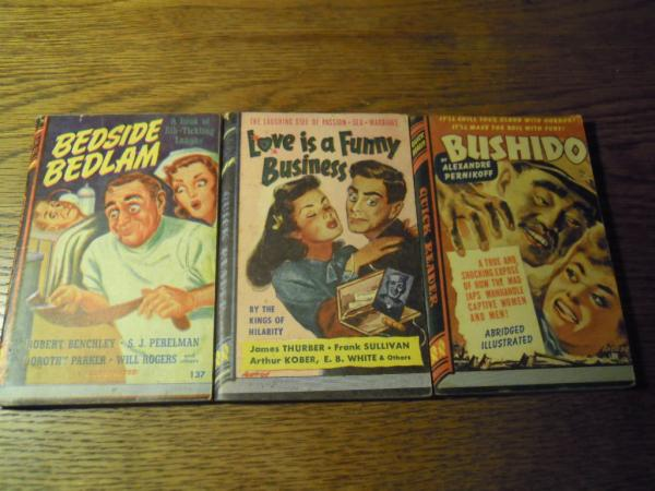 quick reader royce publishers クイックリーダー 3冊、BEDSIDE BEDLAM,LOVE is aFunny Business, Bushidoロイス出版社、シカゴ、1943~1945 USA