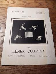 the lener quartet wigmore hall 1939年 プログラム