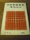 日米安保条約早わかり  「付」条約および関係文書   外務省 1969年