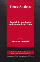 Genre analysis : English in academic and research settings.