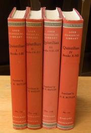 The institutio oratoria of Quintilian, in four volumes