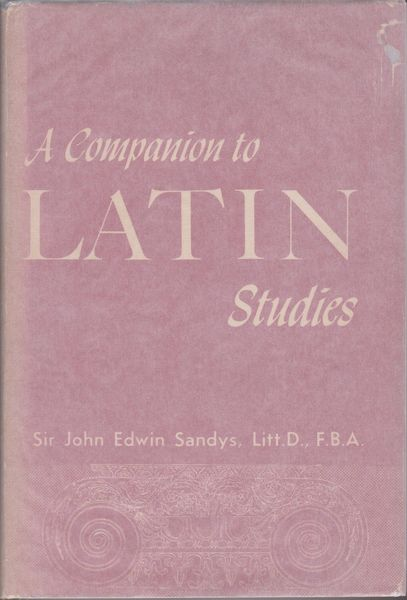 A companion to Latin studies cover