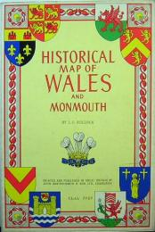 HISTORICAL MAP OF WALES AND MONMOUTH イラスト地図 Bartholomews