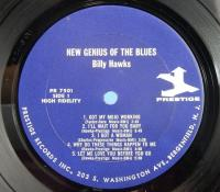 ビリー・ホークス Billy Hawks/The New Genius Of The Blues PRESTIGE