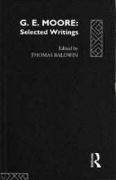 G.E.Moore : Selected Writings