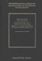 Hume : General Philosophy (International Library of Critical Essays in the History of Philosophy)