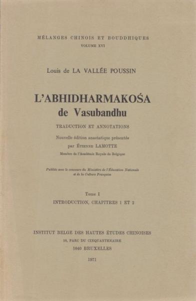 L'Abhidharmakosa de La Vallée Poussin cover art