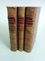 Ancient English Metrical Romancees. Selected and published 3 vols  First Edition.