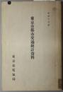 東京市都市交通統計資料  昭和10・11年度(2冊)