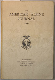 THE AMERICAN ALPINE JOURNAL  第12巻第1号  THE LIFE OF A TETON GUIDE/JAPANESE EXPLORATION IN NEPAL/他