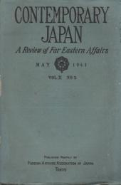 CONTEMPORARY JAPAN : A Review of Far Eastern Affairs