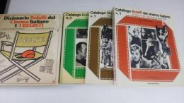 Dizionario Bolaffidel Cinema Italiano 1/1REGISTI、  Catalogo Bolafti del cinema italiano(3冊) 1945/1955、1956/1965、1966/1975 (計4冊)