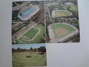 絵葉書 明治神宮外苑 5枚 野球場、陸上競技場、プール、土俵他