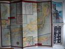 大日本全国鉄道航路細見地図 彩色石版 51×74