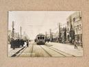 戦前絵葉書『神奈川附近ノ市電ト国道の復興状況』