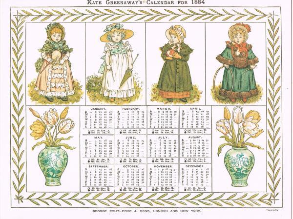 ケイト・グリーナウェイのカレンダー(1884年) 複刻世界の絵本館 ...