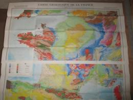 CARTE GEOLOGIQUE DE LA FRANCE 5eme Edition  1:1000000 (2枚揃)