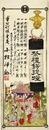 祭礼提燈販売引札―大阪浪花橋(明治刊木版色刷 六九×二五㎝)