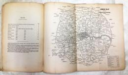Principal Streets and Places in London and its Environs ロンドンとその近郊の郵便区一覧および地図(1857年刊)