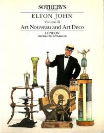 The Elton John Collection Volume III ―Art Nouveau and Art Deco【英文オークションカタログ】